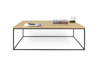 Table basse GLEAM 120 - Chêne avec pieds noirs TEMAHOME 9500.626647