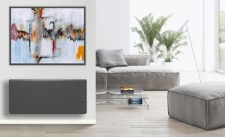 Radiateur à inertie LENA BAS ANTHRACITE SMART ECO CONTR.1000W APPLIMO 0012183SEHS