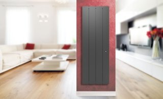 Radiateur Fonte à inertie PEGASE 2 V SMART ECO CONTR.1000W ANTHRACITE APPLIMO 0011943SEHS
